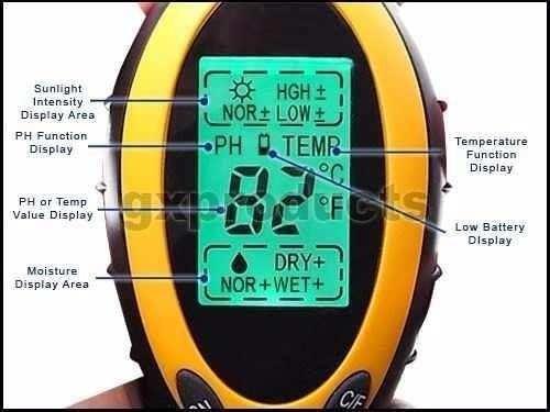 medidor de ph digital humedad luminosidad temperatura 4 en 1