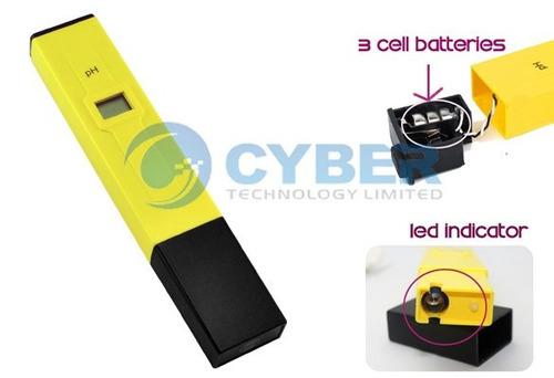medidor de ph eletrônico com compensação de temperatura.