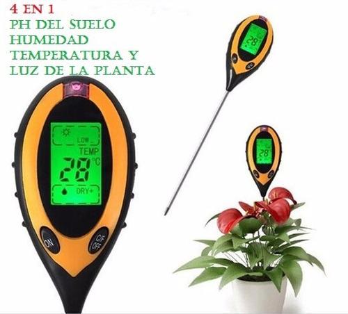 medidor de ph, humedad digital 4 en 1 para jardín