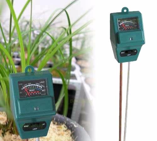 Medidor de ph humedad y luz de tierra de cultivo o for Medidor ph tierra