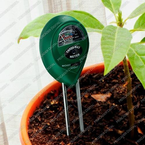 medidor de ph, humedad y luz para jardín, vivero hidroponía