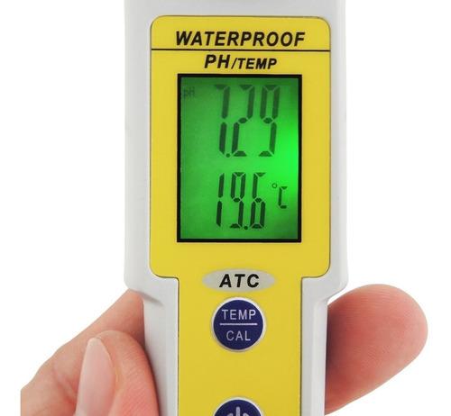 medidor de ph y temperatura, peachímetro, digital con atc