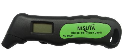 medidor de presion digital con led neumaticos nisuta ns-mep