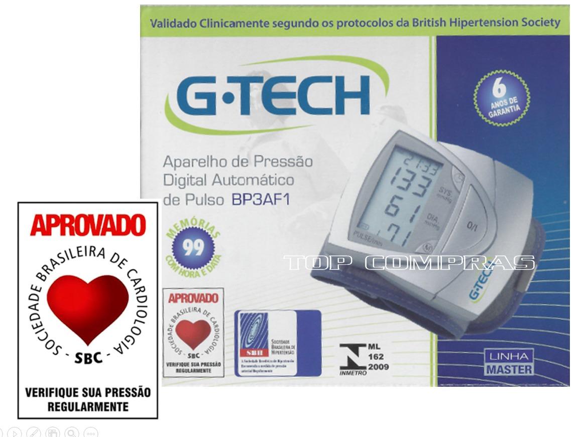 448e0a8d7 medidor de pressão arterial digital de pulso bp3af1 g-tech. Carregando zoom.