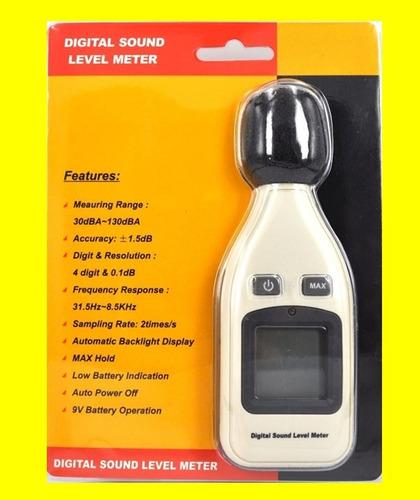 medidor de sonido ruido decibeles digital tester sonómetro