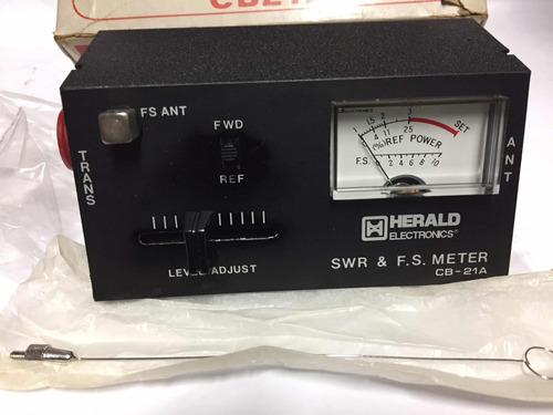 medidor de swr e campo herald electronics 27mhz