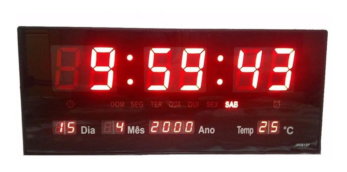 Calendario M.Medidor De Temperatura Ambiente Relogio Led C Calendario M