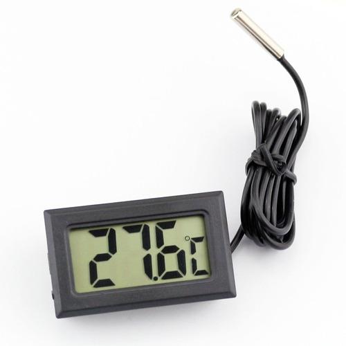 medidor de temperatura digital com sensor externo 80 cm #p02