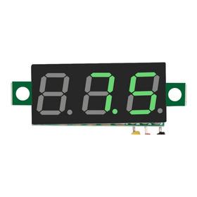 Medidor De Voltaje Digital Tres Cables Dc 0-100 Colores