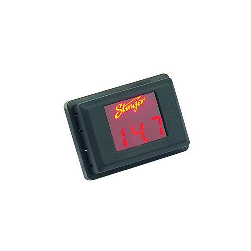 medidor de voltaje stinger svmr - pantalla roja