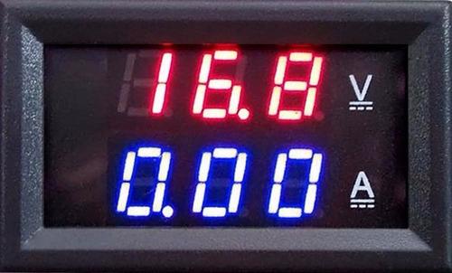 medidor de voltaje y amperaje  0 - 100 vdc 10 amperes