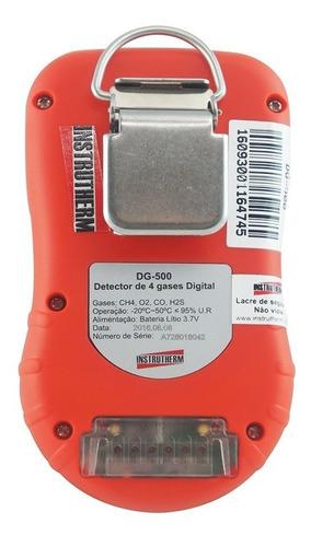 medidor (detector) de 4 gases instrutherm mod. dg-500 (novo)