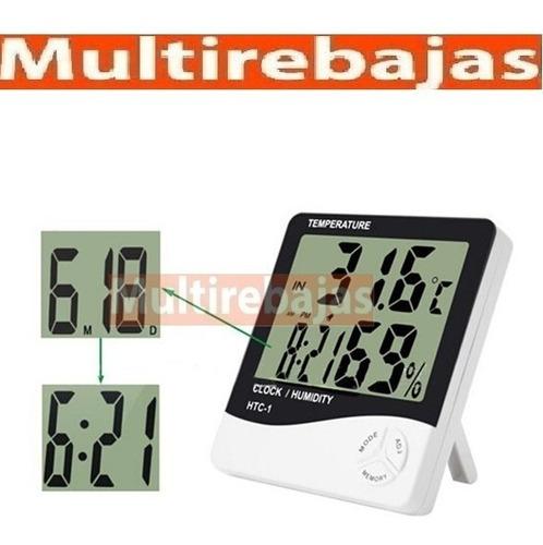 medidor digital de humedad temperatura fecha hora 4 en 1