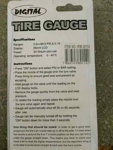 medidor digital de pressão para pneus automotivos novo caixa