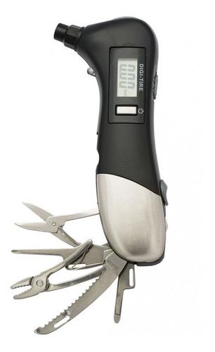 medidor digital de pressão portátil p/ pneus c/ lanterna