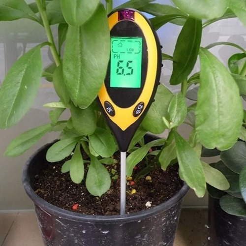 medidor digital ph 4x1 solo plantas umidade luz termômetro