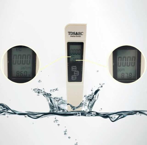 medidor digital tester 3 en 1 temperatura pureza y ec