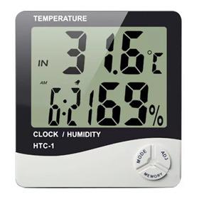Medidor Digital Umidade Ar Temperatura Relógio