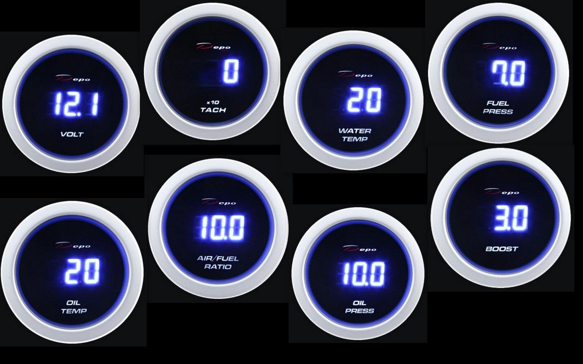 Medidor digital volt tacometro temperatura agua aceite for Medidor de temperatura y humedad digital