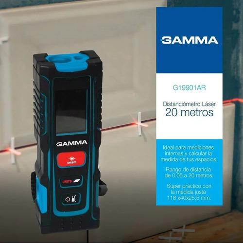 medidor distancia laser distanciómetro 20 mt gamma sim bosch