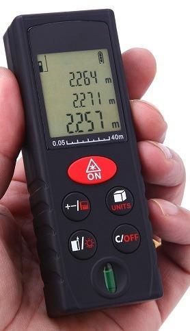 medidor distancias laser ts mt40 0.05 a 40mts + area vol pit