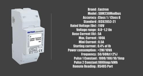 medidor eastron 1f bidireccional 110v 60hz para uso interno