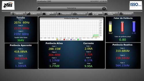 medidor elétrico trifásico acesso remoto 100a dmi t50t