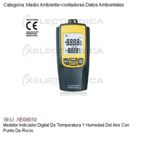 Medidor indicador digital de temperatura y humedad del for Medidor de temperatura y humedad digital