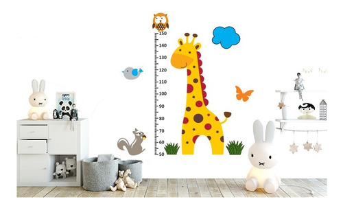 medidor infantil estatura jirafa - regla 1m