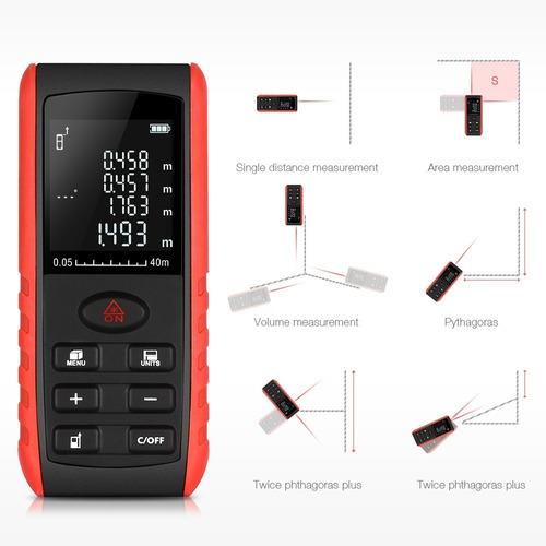 medidor láser de distancia digital 40 metros telemetro bater
