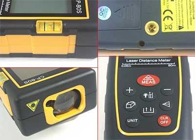medidor laser distancia 80 metros, telemetro, distanciometro