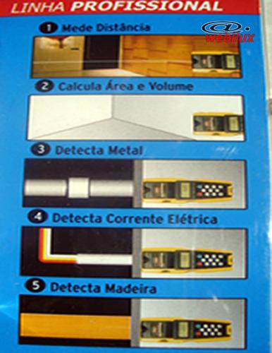 medidor multifunção trena ultrassonic  laser detector 5 em 1