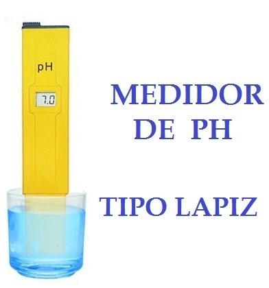 medidor ph digital phmetro lcd con estuche y pilas