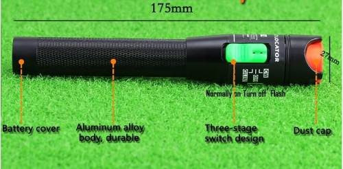 medidor potencia fibra optica + lampara fallas 10km 10mw