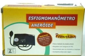 medidor pressao esfigmomanômetro + estetoscópio completo