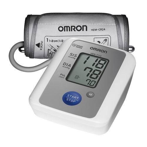 medidor pressão arterial digital de braço omron hem 7113