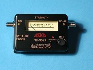 medidor  señal   satelital  de  tv     marca aska