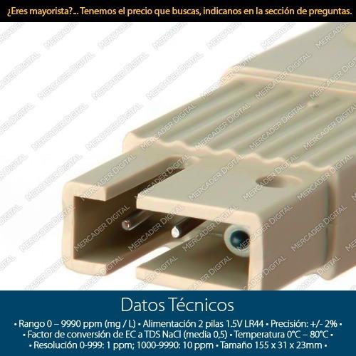 medidor tds-3 de calidad y pureza de agua termómetro