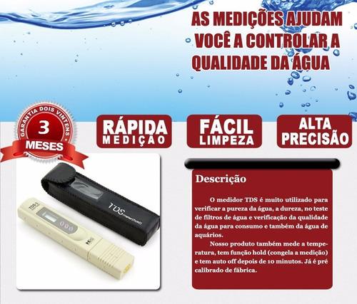 medidor tds condutividade condutivímetro dureza água aquário