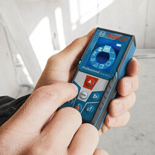 medidor telemetro laser bosch glm 50 c bluetooth mide distancia 50mts superficie volumen inclinacion con estuche