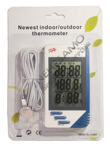 medidor temperatura humedad sonda alámbrica termohigrómetro