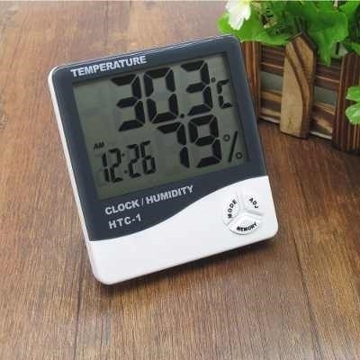 medidor termometro ambiente digital relogio umidade temperat