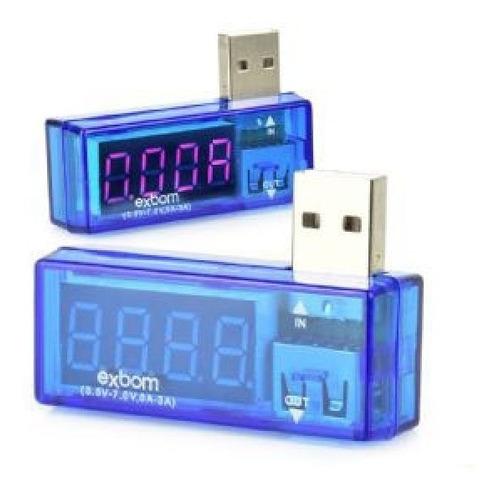 medidor testador usb voltagem amperagem mede até 10v até 5a