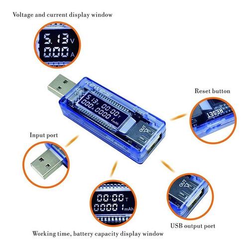 medidor voltímetro amperímetro usb - teste de carga