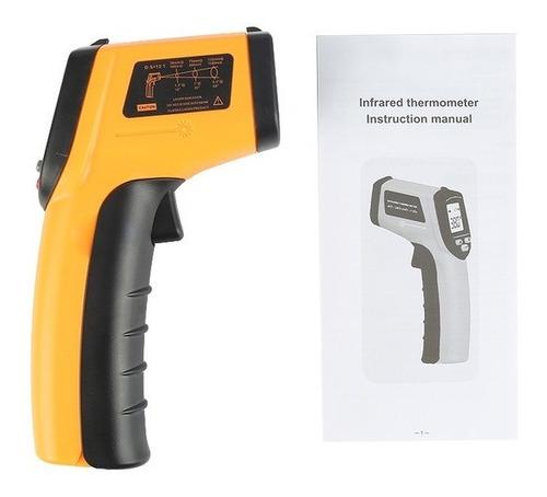 medidora de temperatura infrarroja lcd gm320 laser digital