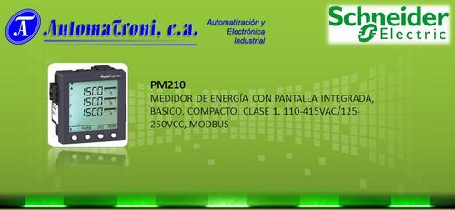 medidores de energia electrica pm200 / pm210 marca schneider