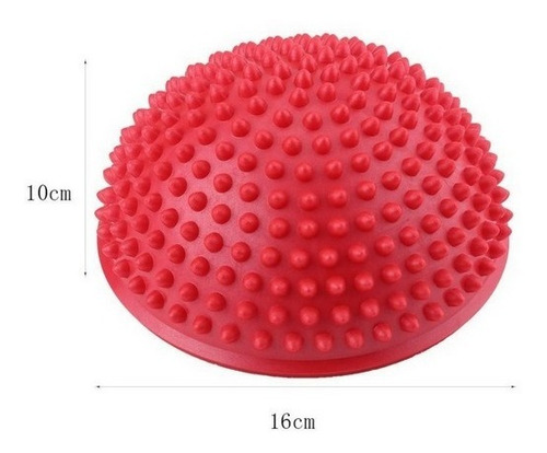 medio balon o mini bosu erizo / kit 4 unds + bolso / balance