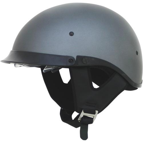 medio casco afx fx-200 sólido gris escarchado 2xl