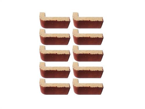 medio esquinero x10un 15x6x2,5 6 cm fara esmaltada n14
