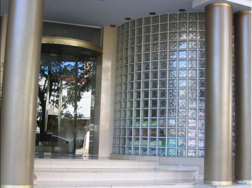 medio ladrillo de vidrio nube ondulado, 19x9x8 cm